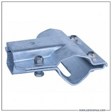 Кронштейн соединения прямого квадратного дышла, 60х60 мм,  с осью до 750 кг