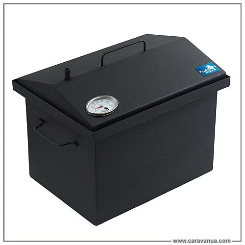 Коптильня SmokeHouse M Thermo (углеродистая сталь термостойкое покрытие, 400х300х310) с термометром